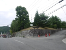 4.左手に龍田大社が見えてきます。 そのまま直進していただくと右手に三郷健民運動場がみえてきますので次の交差点を左折します。
